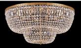 "Swarovski House Of Hampton Milan 24 - Light 48"" Unique/Statement Tiered LED Flush Mount House of Hampton Crystal Grade Strass"