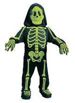 Fun World Costumes Baby Boy's Totally Skelebones, Black/Green, Large