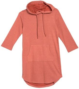 Papillon Hoodie 3/4 Sleeve Sweatshirt Dress