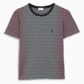 Saint Laurent Black and white striped t-shirt