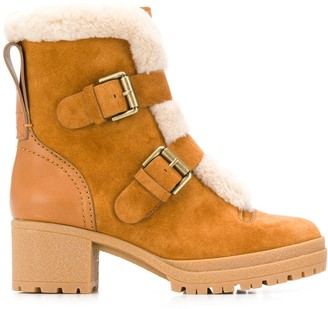 See by Chloe Buckled Shearling Boots