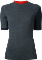 Enfold ribbed-knit top
