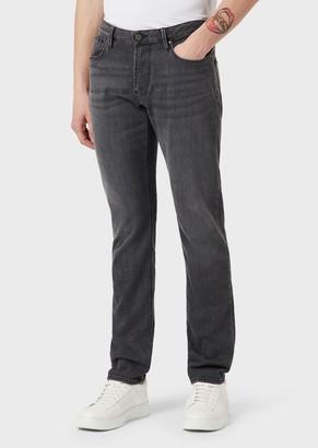Emporio Armani Slim-Fit J06 Comfort Denim Jeans