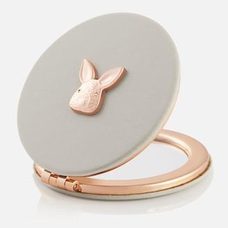 Olivia Burton Women's 3D Bunny Compact Mirror - Grey & Rose Gold