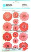 Martha Stewart Crafts - Pink & Red Gerbera Daisy Stickers -spring Garden Flowers