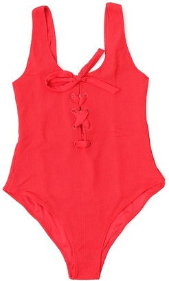 Ganni Tie-Front Swimsuit