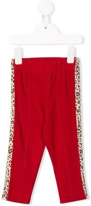 MonnaLisa Side Leopard Stripe Leggings