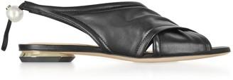 Nicholas Kirkwood Black Nappa 10mm Delfi Sandals