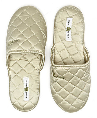 Kumi Kookoon Quilted Slippers sage