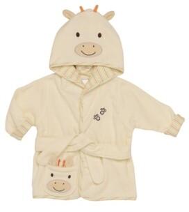 Little Me Neutral Giraffe Baby Hooded Bathrobe