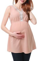Women's Kimi And Kai Darla Lace Inset Maternity Top
