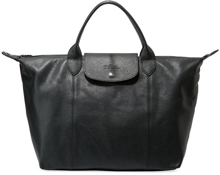 Le Pliage Cuir Medium Shoulder Bag