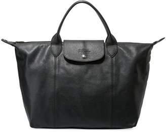 Longchamp Le Pliage Cuir Medium Shoulder Bag