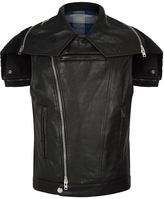 Givenchy Short Leather Gilet