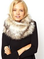 ASOS Faux Fur Funnel Snood - Natural