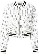 Dolce & Gabbana polka dot bomber jacket - women - Silk/Polyester - 40