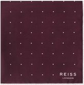 Reiss Helmar - Silk Dotted Pocket Square in Red, Mens