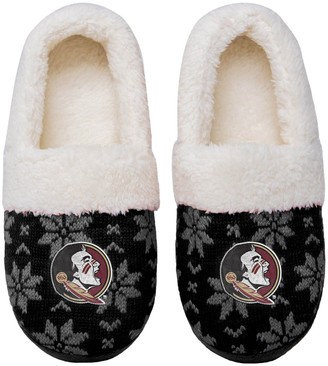 Women's Florida State Seminoles Ugly Knit Moccasin Slippers