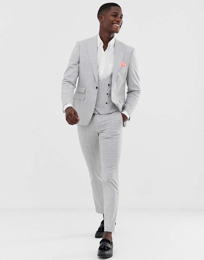 c43945e7bcdb06 Mens Windowpane Suit - ShopStyle UK