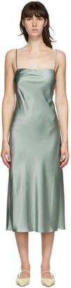 Le Kasha Green Silk Hotan Mid-Length Dress