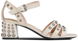 Geox D Seyla Mid Leather Sandals