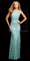 Scala Illusion Side Scooped Back Prom Dress