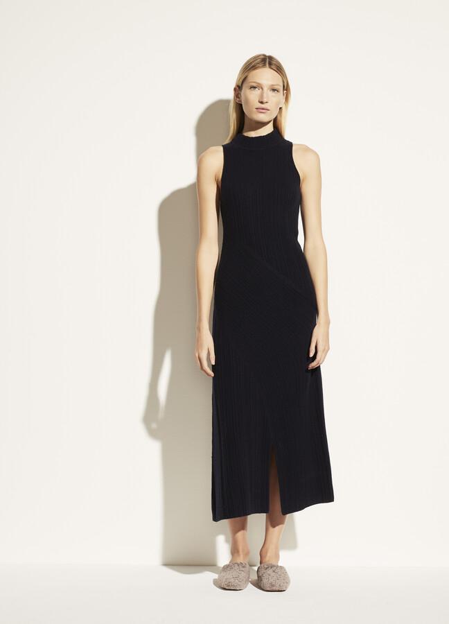 Vince Mock Neck Cashmere Dress