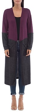 Bobeau B Collection By B Collection by Ramona Color-Block Open Duster Cardigan