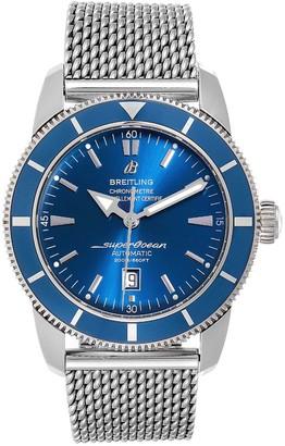 Breitling Blue Stainless Steel Superocean Heritage A17320 Men's Wristwatch 46 MM