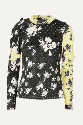 Preen Line Konan Printed Stretch-jersey Top - Black