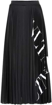 Valentino VLTN pleated jersey midi skirt