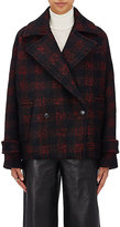 IRO Women's Tesye Plaid Wool-Blend Boxy Coat-BLACK, RED