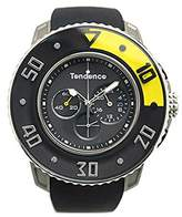 Tendence G-52 Unisex Quartz Watch with Black Dial Analogue Display and Black Plastic or PU Strap 2106001