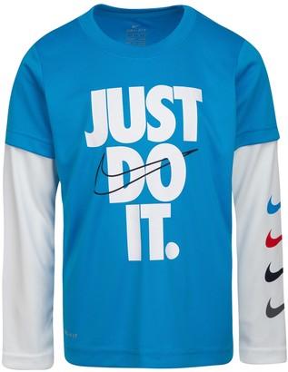 Nike Just Do It Twofer Crew Neck Top (Toddler Boys)
