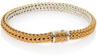 John Hardy Classic Chain 18K Yellow Gold & Sterling Silver Small Reversible Bracelet
