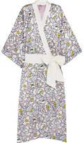 Olivia von Halle Queenie Dione Floral-print Silk-satin Robe