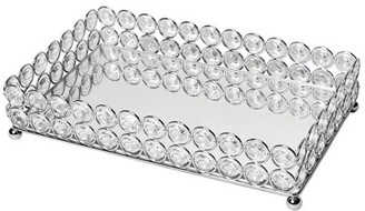 Elegant Designs Elipse Crystal and Chrome Mirrored Vanity Tray