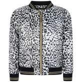 Roberto Cavalli Roberto CavalliGirls Leopard Bomber Jacket