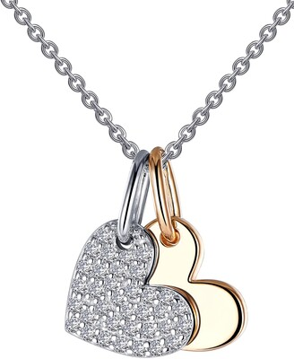 Lafonn Pave Heart Shadow Charm Necklace