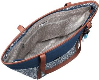 The Sak Sakroots Topanga Tote Handbag with Critter Keychain