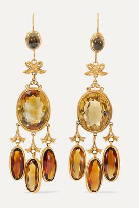 Fred Leighton 1890s 18-karat Gold Citrine Earrings - one size