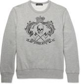 Alexander McQueen Skull-Print Loopback Organic Cotton-Jersey Sweatshirt