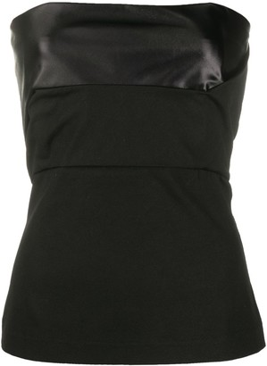 Rick Owens Panelled Stretch Fit Bustier Top