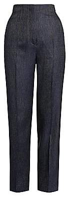 Giorgio Armani Women's Silk & Wool Denim-Effect Slim Pants