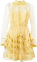 RED Valentino lace trim sheer tulle dress