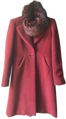 Christian Lacroix Burgundy Cashmere Coat for Women Vintage