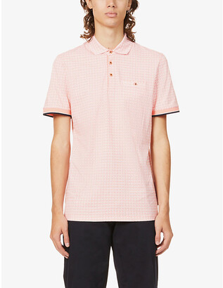 Ted Baker Geographic-print cotton polo shirt