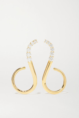 Melissa Kaye Aria Grace 18-karat Gold Diamond Earrings