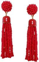 Gemma Collection Red Tassel Earrings
