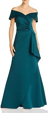 Aqua Off-the-Shoulder Scuba Gown - 100% Exclusive